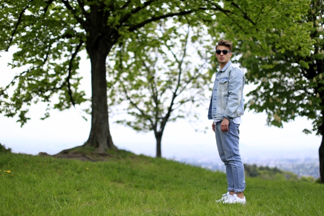 Gap Vienna full outfit denim jacket bright
